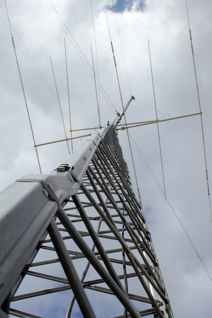 Looking up the ham radio tower