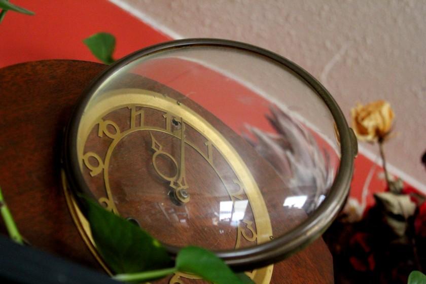 Glass door on the old Seth Thomas clock