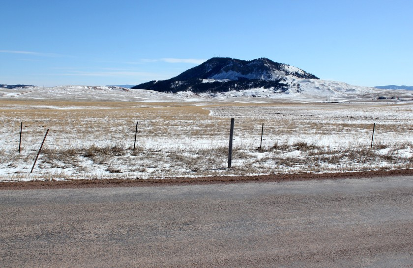 County Rd 100 looking at Sundance Mountain in Northeast Wyoming