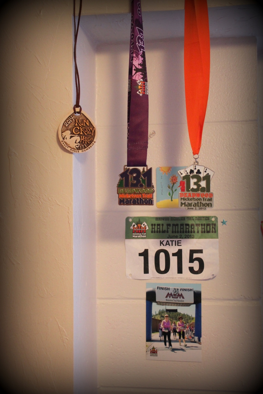 Medals of my half-marathons